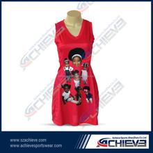 OEM service supply netball jersey,sublimated netball uniforms,custom design netball dresses
