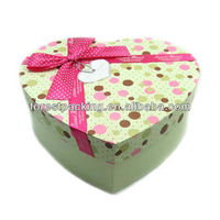LUXURY DESIGN PRINTED HEART SHAPE WEDDING CANDY BOX