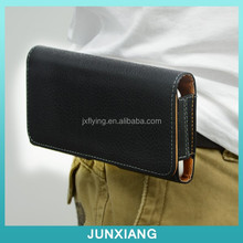 Mobile phone accessories holster leather case for iphone 6 with belt clip