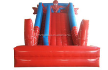 Red inflatable slide for kids and adult,inflatable spiderman slide for fun