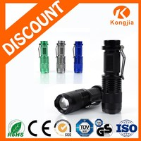Portable Ultra Bright Rechargeable Aluminium Zoom Led Torch 300 Meter Flashlight