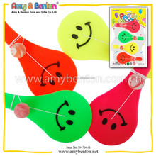 Promotional paddle ball plastic crazy sports paddle ball toy smile face toy