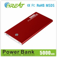 2015 hottest external portable power bank ultra slim 5000 mah power bank charger