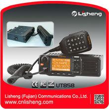 Lisheng VHF UHF 60W / 50W de largo alcance UT858 móvil de radio de dos vías