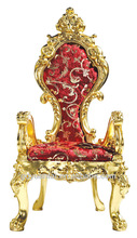 Luxury Gold Chateau Hotel Dining Chair /Throne H-001