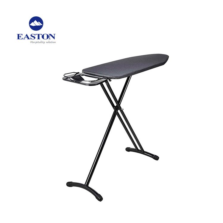 Acero inoxidable tabla de planchar con rack, planchar plegable almacenamiento