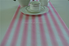 pink stripe printed non woven fabric roll for table runner wedding deco and gift wrapper