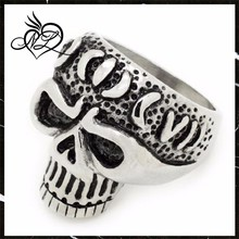 Alibaba china most popular stainless steel male hot sale fashion skull ring