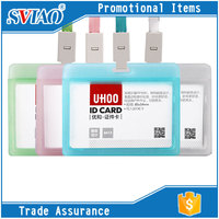 4 Transpant Colors PP Waterproof fancy school student id card holder