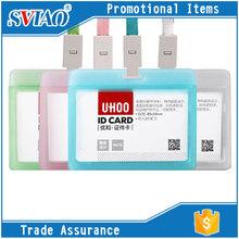 4 Transpant Colors PP Waterproof fancy school student id card holder