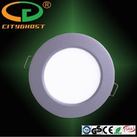 Energy Saving Lighting Silver Color Small Watts Ceiling Recessed Round Panel Led Light 9W