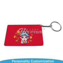 Wholesale Sublimation Blank Plastic Key Chain New Arrive photo frame key chains
