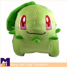 high quality lovely stuffed toy green plush doll