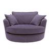 big round shape fabric sofa furniture HDS1417