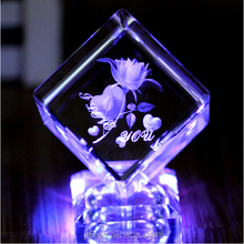 Nice Crystal 3d Laser Picture Cube, 3d Laser Etched Glass Cube