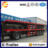 flatbed trailer with twist lock for 40ft container transport( Skeleton or flatbed platform optional)