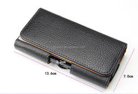 leather pouch belt clip case holster for samsung s6/belt case phone pouch