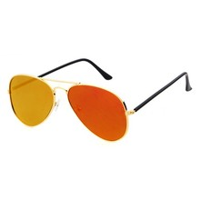 2015 cheap brand novelty aviator sunglasses with red mirror lens thick temples