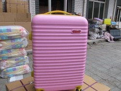 Cute Pink Girls ABS Hard Shell Luggage , 20'' 24'' 28'' Existing Mould