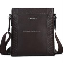 Fashion shoulder messenger bags men's wholesale leather briefcases