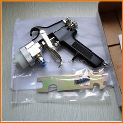 professional chrome paint and good quality plating single nozzle pistol hopper gun with rotating nozzle