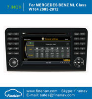 """Finenav 7"""" Touch Screen Car Stereo DVD GPS For Benz W164 X164 With GPS A8 Chipset 3G WiFi Radio Bluetooth iPod 1G CPU Free Map"""