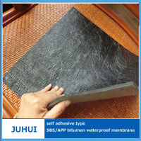 Good elongation self-adhesive rubber modified bitumen waterproofing membrane