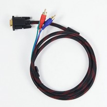 Wholesale vga to s video rca component video cable vga to 3 rca cable for tv