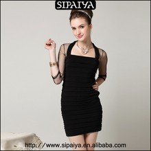 Best price black beautiful wrap tight top dress