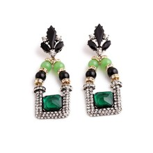 2015 New design elegant crystal earing, trending hot products crystal decorative lady accessories