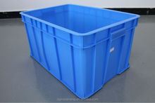 605mm plastic turnover box big plastic case hard plastic box for garment for factory
