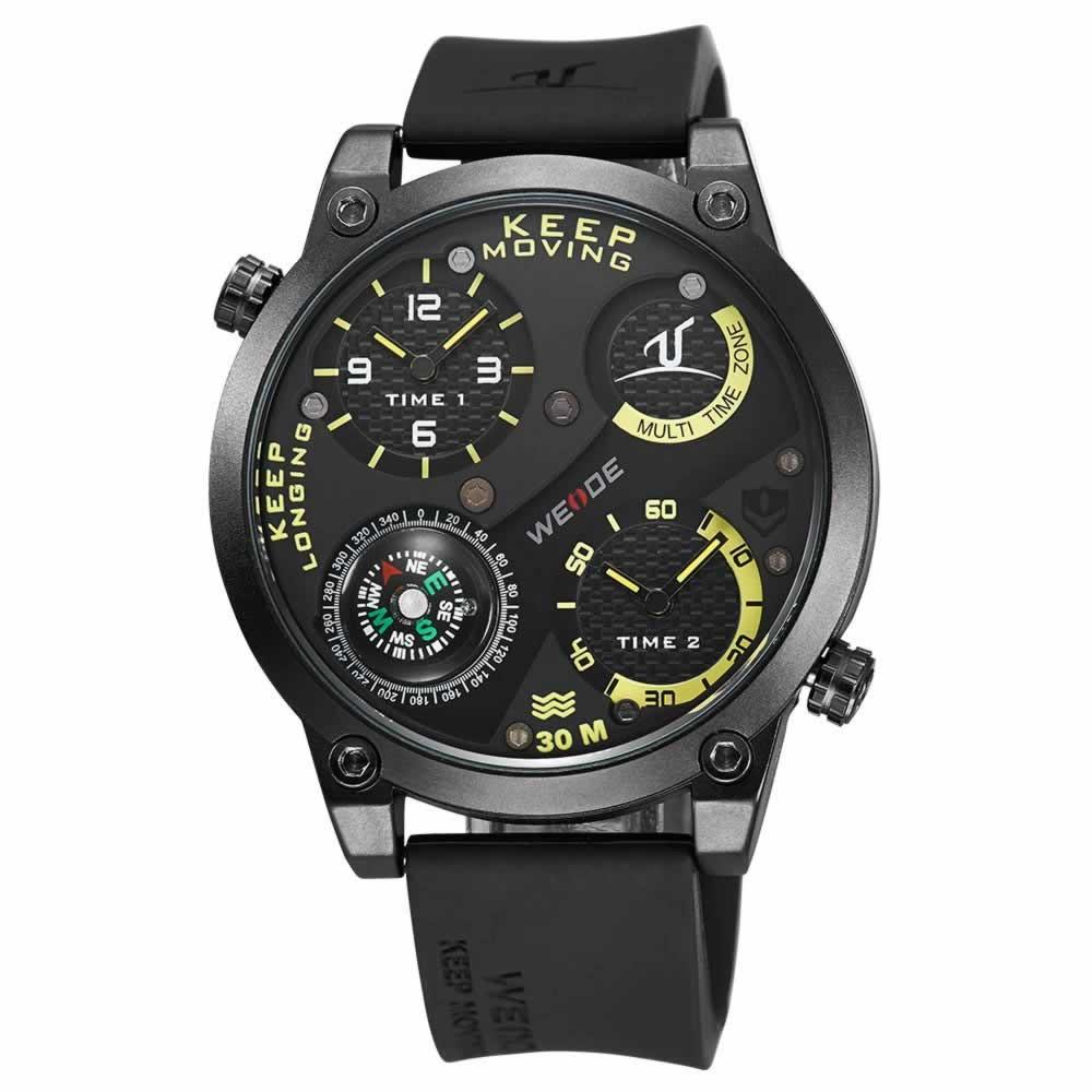 weide 30m waterproof sport wrist watches quartz