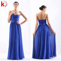 Pretty Quality Off Shoulder Ruffle Long Peach Color Chiffon Bridesmaid Dress