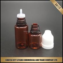 E liquid amber bottle 20ml clear pet E liquid plastic dropper bottle sold by litang
