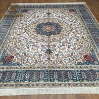 8x10ft NO.1 sell chinese silk carpets pure silk hand knotted rug