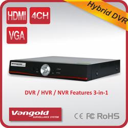 2015 Best Seller DVR/ HVR/ NVR features 3 -in-1 Audio input 4ch RCA