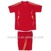 Youth football uniforms blank kids soccer jersey wholesale