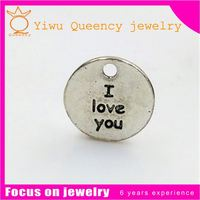 metal coin little tags engraving letters name logo charms