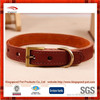 Custom wholesale brown genuine Leather Dog Collars