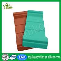 The incombustible sheet plastic lightweight roofing materials PVC roof tile