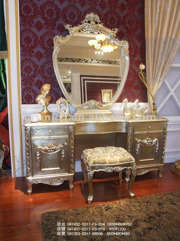 Luxury Classic Dresser Dressing Table And Mirror Mirrored