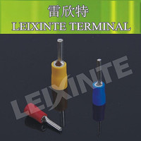 terminal factory PTV2-12 insulated pin brass copper terminal