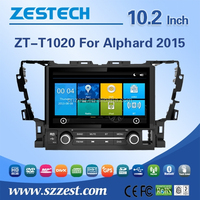 Hot selling car dvd player for toyota alphard 2015 car audio with high quality