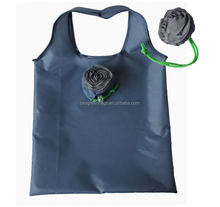 Custom polyester folding shopper with flower pouch