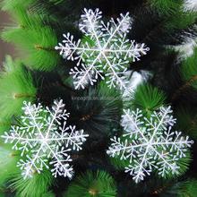 Christmas White Snowflake Plastic Ornaments Decoration Christmas Tree