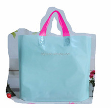 2015 new LDPE/PP//HDPE custom printed soft loop handle plastic bag for clothing