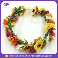 Fashion wedding hair wreath/tiara flower crown/bridal tiara wedding hair crown