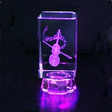 Music note engraved crystal 3D Crystal Laser Engraving Gifts,Fashion Crystal Music note gifts