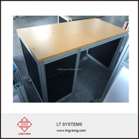 Aluminium frame showroom counter designs and office front desk counter table design for exhibition booth use