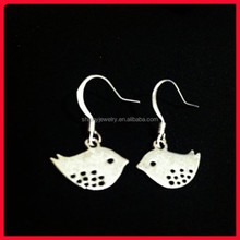 high quality cheap cute dog lover 925 sterling silver dangle chicken earring